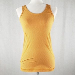 Zella orange striped workout tank XS